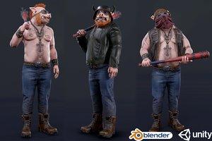 biker boar 3D model