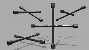 3D lug wrench model