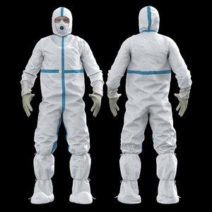 covid protective uniform 3D