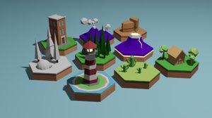 illustration art 3D model