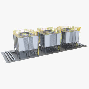 3D model industrial cooling 1