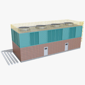 industrial cooling tower 1 3D model