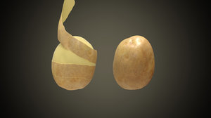 3D model potato peeling
