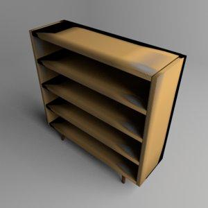 bookshelf table 3D model