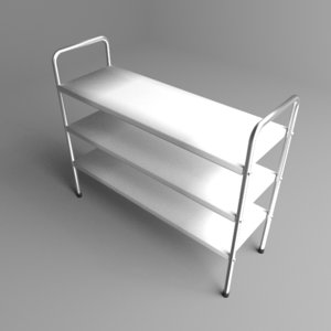 3D bookshelf steel