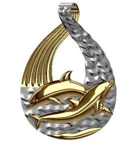 3D dolphin pendant