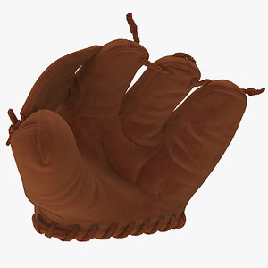 3D shoeless joe vintage baseball glove