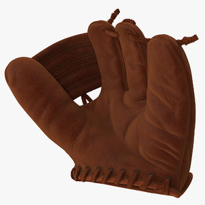 3D shoeless joe vintage baseball glove model