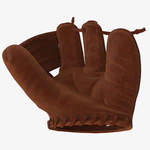 shoeless joe vintage baseball glove 3D