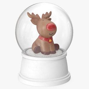 snow globe deer 2 model