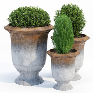 anduze urn smooth 3D model