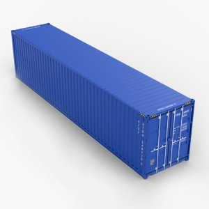 3D cube 40ft shipping container model