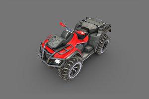 3D model atv pbr