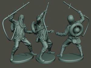 german soldier ww1 killed 3D model