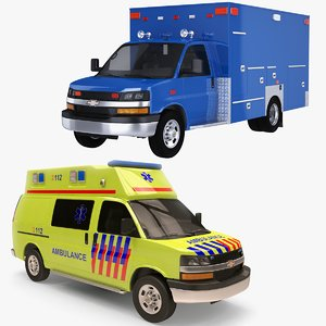 3D model 2020 chevrolet express ems ambulance