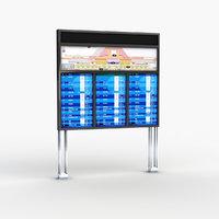 airport information board 3D model