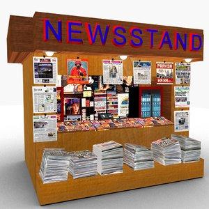 newsstand 3D