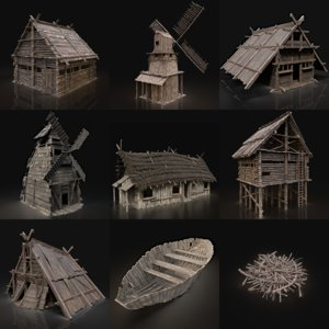 buildings viking 3D model