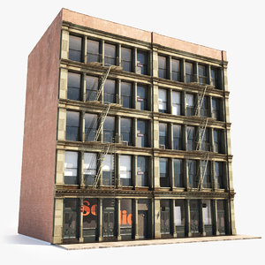 soho facade architecture 3D model
