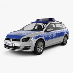 volkswagen golf variant 3D model