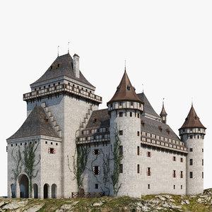 3D castle fortress architecture model