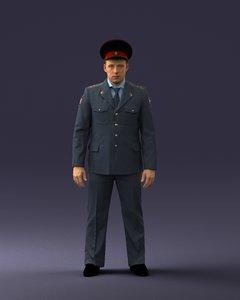 police man 3D model