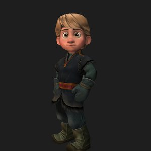 young kristoff - 3D model