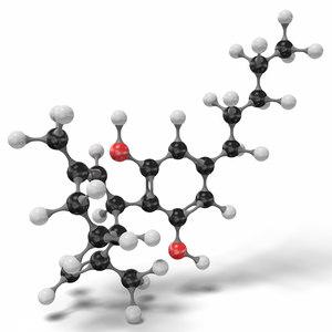 molecule modeled 3D model