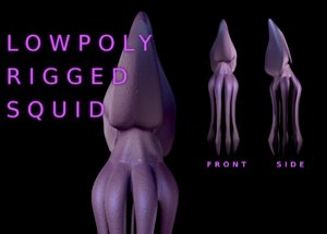 3D giant squid