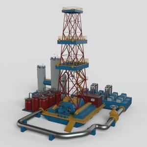 3D gas platform