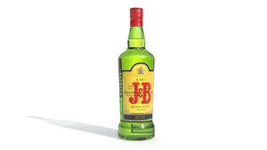alcohol whiskey bottle jb 3D model