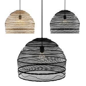 wicker hanging lamp 3D
