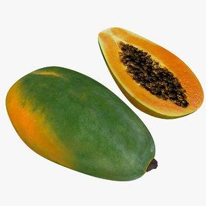 3D papaya fruit model