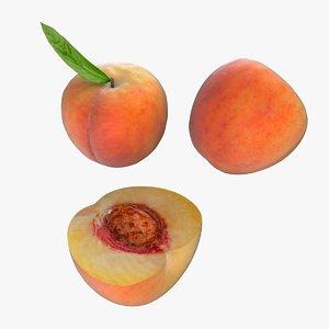 3D peach fruit
