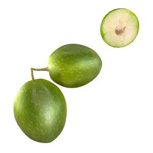 3D model olive fruit