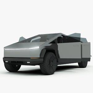 3D model tesla cybertruck