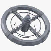Circular Space Station 3D Model