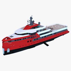 expedition yacht 75 seaexplorer 3D model