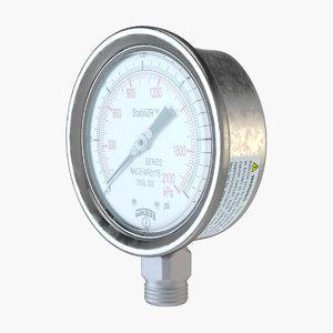 3D pressure gauge model