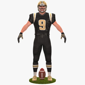 football player 2020 3D model