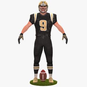 football player 2020 3D model