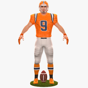 3D football player 2020