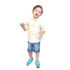 kid standing 3D model