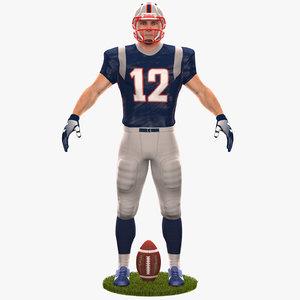 football player 2020 3D