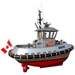 3D bratt asd tugboat tug