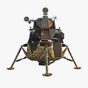 3D lunar module model
