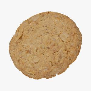 oat flakes cracker 01 3D