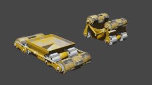 rassor mining space 3D model