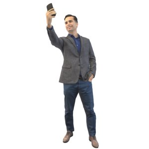 guy selfie 3D model