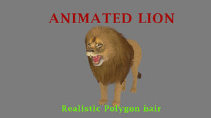 lion hair animations 3D